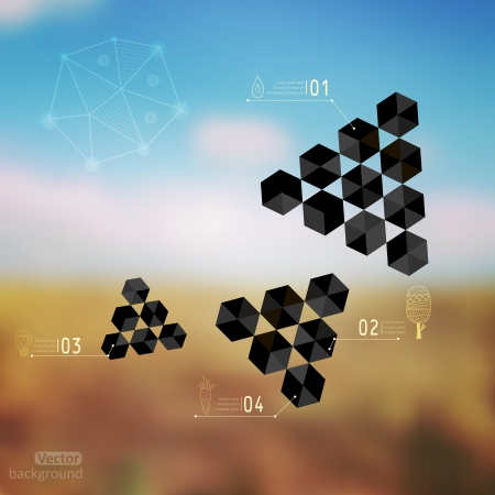 Vector web and mobile interface template. Corporate website design. Minimalistic web multifunctional media backdrop. Vector. Editable. Blurred. Unfocused. Triangles concept. Landscape. Nature. Field. Vector