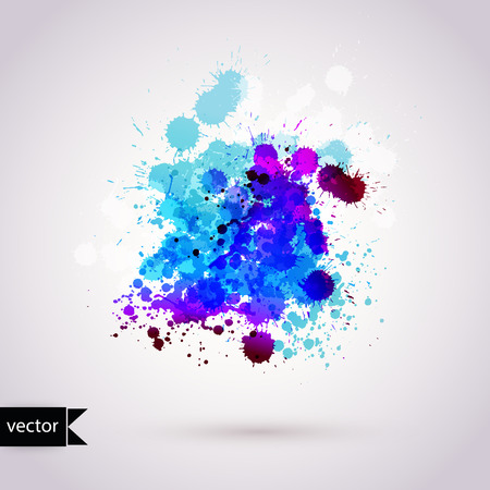 Vector  abstract hand drawn watercolor background,vector illustration, stain watercolors colors wet on wet paper. Watercolor composition for scrapbook elements. Vector