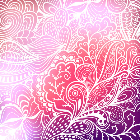 Abstract hand-drawn waves texture, wavy background. Blurred template. Invitation card in a doodles style. Pink backdrop,wedding invitation. Floral ornament, plant. Texture. Pattern. Background
