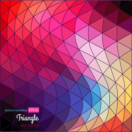 Geometric abstract texture. Retro pattern of geometric shapes.  Vector
