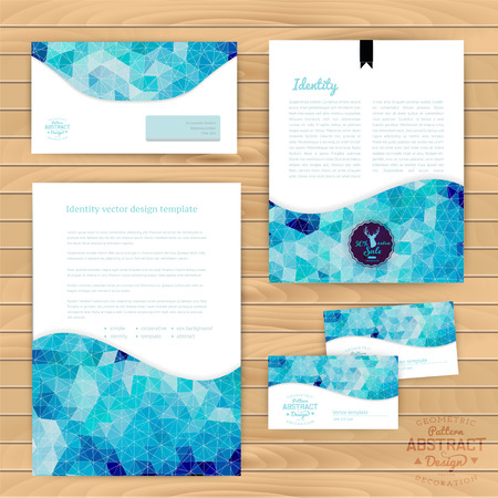 Vector corporate identity, wave pattern. Abstract backdrop.Geometric banner design template. Brand, visualization, corporate identity business set. Identity Design Template. Card, envelope. Vector