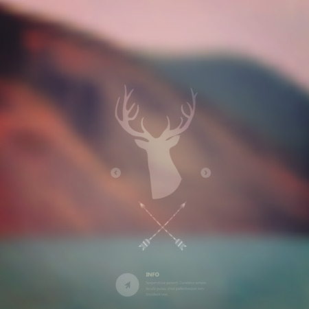 Vector landscape, nature, mobile template. Corporate website design.  Vector