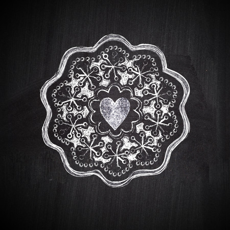 Chalkboard label with heart photo