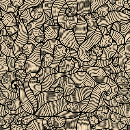 wild hair: seamless abstract hand-drawn pattern