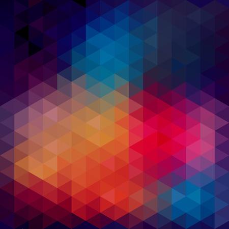 幾何学的図形の三角形パターン。