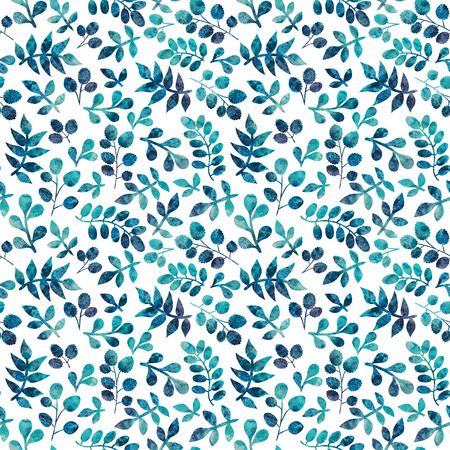 Watercolor seamless pattern on leaves theme, Autumn seamless pattern with leaf.Can be used for wallpaper, pattern fills, web page background,surface textures. Gorgeous seamless floral background photo