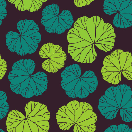 Seamless pattern on leaves theme, Autumn seamless pattern with leaf photo