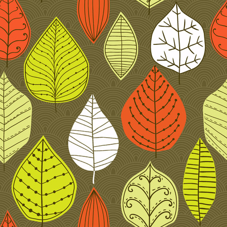 autumn fashion: Seamless pattern with leaf, abstract leaf texture, endless background.Seamless pattern can be used for wallpaper, pattern fills, web page background, surface textures.