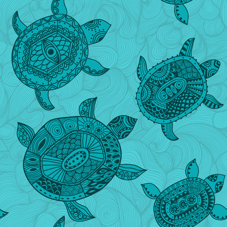 Seamless pattern with turtles. Seamless pattern can be used for wallpaper, pattern fills, web page background,surface textures. Seamless animal background photo