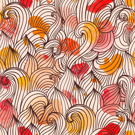 web background pattern: Seamless wave hand-drawn pattern, waves background. Watercolor  seamless pattern.Can be used for wallpaper, pattern fills, web page background,surface textures. Gorgeous seamless wave background Stock Photo