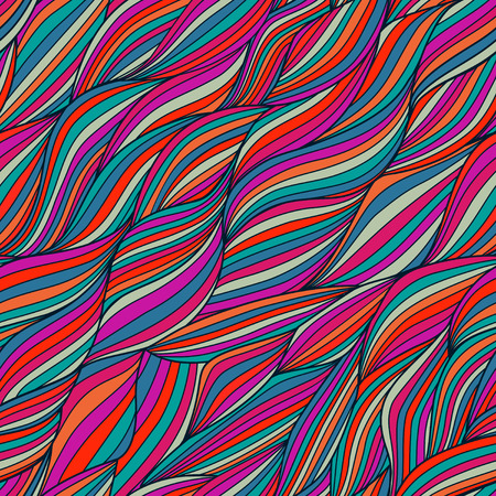 Seamless wave hand-drawn pattern, waves background (seamlessly tiling).Can be used for wallpaper, pattern fills, web page background,surface textures. Gorgeous seamless wave background Stock Photo