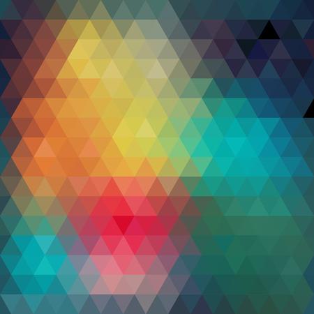 forme geometrique: Motif triangles de formes géométriques. Toile de fond mosaïque colorée. Géométrique hippie rétro fond, placez votre texte sur le dessus de celui-ci. Retro background de triangle. Toile de fond Banque d'images
