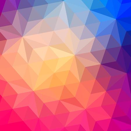 幾何学的形状の三角形のパターン。カラフルなモザイクの背景。幾何学的なヒップなレトロな背景、それの上にテキストを配置します。レトロな三