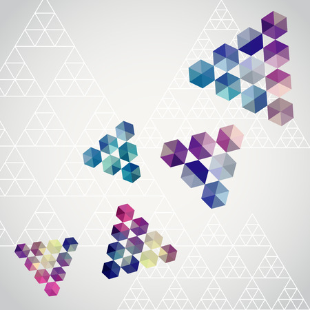 Triangle triangle background, geometric illustration with plenty space for your text