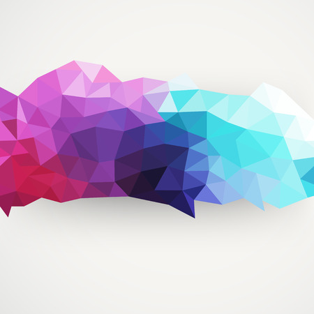 triangle pattern background, triangles background, illustration with plenty space for your text. Geometric backdrop. Modern banner design template Stock Photo