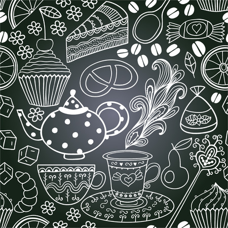 chalkboard seamless floral pattern. Copy that square to the side,youll get seamlessly tiling pattern which gives the resulting image the ability to be repeated or tiled without visible seams photo