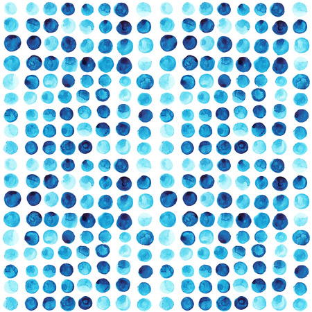 Vector watercolor circles seamless pattern (tiled). Retro hand drawn circles ornament. Round shapes pattern. Color cell. round shapes. Geometric painted ornament. Grunge colorful rounds shapes. Vector