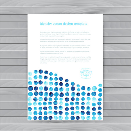 Vector watercolor circles. Corporate identity vector blank, background, illustration with plenty space for your text. Watercolor backdrop. Identity banner design template, vector illustration. Illustration