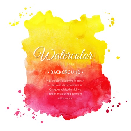 Vector watercolor background for textures and backgrounds. Abstract watercolor background. Hand drawn watercolor backdrop, stain watercolors colors on wet paper. Composition for scrapbooking