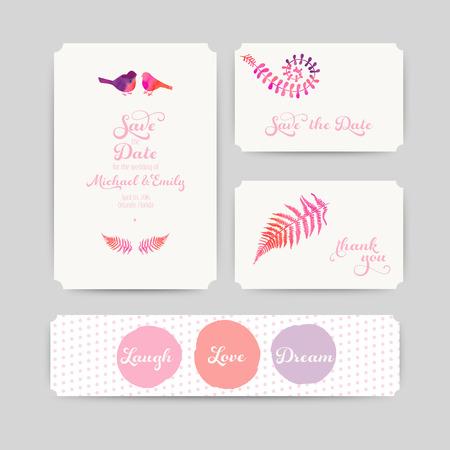watercolor technique: Set of flowers card, watercolor technique. Vector cards design.