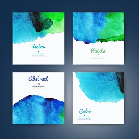 ベクトルのテクスチャーと背景の水彩画の背景。抽象的な水彩画の背景。手描き水彩背景、湿った紙に水彩色を染色します。スクラップブッ キング