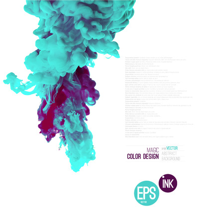 Vector abstract cloud. Ink swirling in water, cloud of ink in water isolated on white. Abstract banner paints. Holi. 일러스트