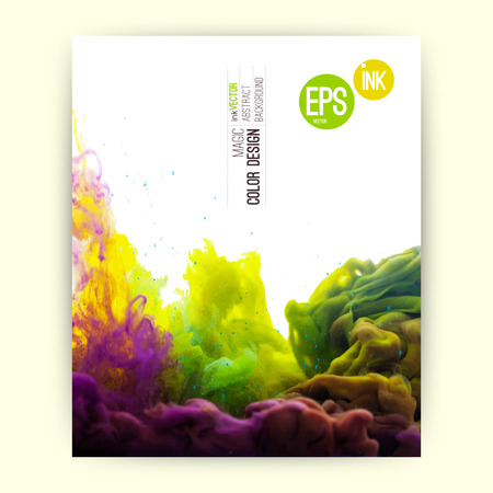 Vektor abstrakte Wolke. Tinte wirbelnden in Wasser, Wolke Tinte in Wasser isoliert auf weiß. Zusammenfassung Banner Farben. Holi. Standard-Bild - 32745622