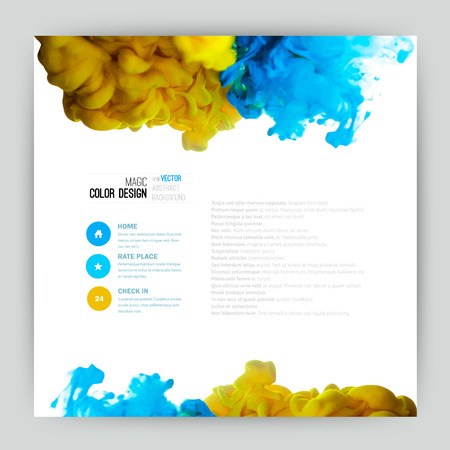 Vector abstract cloud. Ink swirling in water, cloud of ink in water isolated on white. Abstract banner paints. Holi. Liquid ink. Background for banner, card, poster, poster, identity,web design.Juice Vector