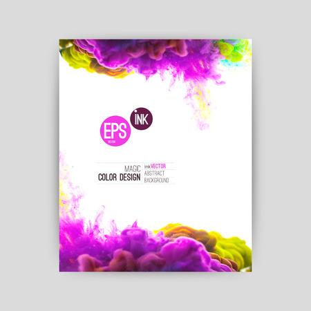 barvy: Vector abstract cloud. Ink vířící ve vodě, mrak inkoust ve vodě na bílém. Abstraktní banner barvy. Holi. Liquid inkoust. Pozadí pro banner, karty, plakát, plakát, identita, web design.Juice