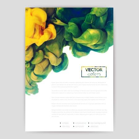 Vector abstracte wolk. Inkt al roerend in het water, wolk van inkt in het water geïsoleerd op wit. Abstracte banner verven. Holi.
