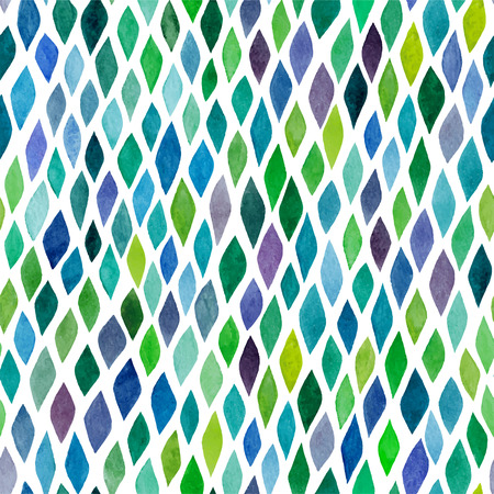 Watercolor seamless abstract hand-drawn pattern, endless modern background, abstract seamless repeat pattern with rhombs