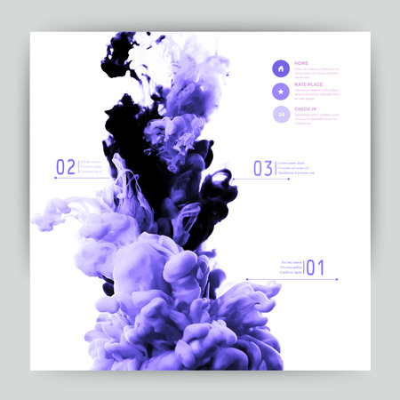 purple: Vector abstract cloud. Ink swirling in water, cloud of ink in water isolated on white. Abstract banner paints. Holi. Liquid ink. Background for banner, card, poster, poster, identity,web design.Juice