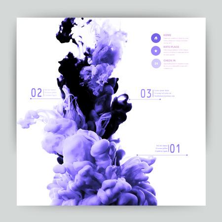Vector abstract Wolke. Ink wirbelnden in Wasser, Wolke aus Tinte in Wasser isoliert auf weiß. Abstrakte Fahne Farben. Holi. Flüssige Tinte. Hintergrund für Banner, Karte, Poster, Plakat, Identität, Web design.Juice Vektorgrafik