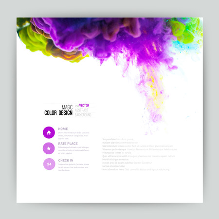 Vector abstract cloud. Ink swirling in water, cloud of ink in water isolated on white. Abstract banner paints. Holi. Liquid ink. Background for banner, card, poster, poster, identity,web design.Juice