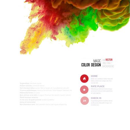 Vector abstracte wolk. Inkt al roerend in het water, wolk van inkt in het water geïsoleerd op wit. Abstracte banner verven. Holi. Vloeibare inkt. Achtergrond voor banner, kaart, poster, poster, identiteit, web design.Juice Stock Illustratie