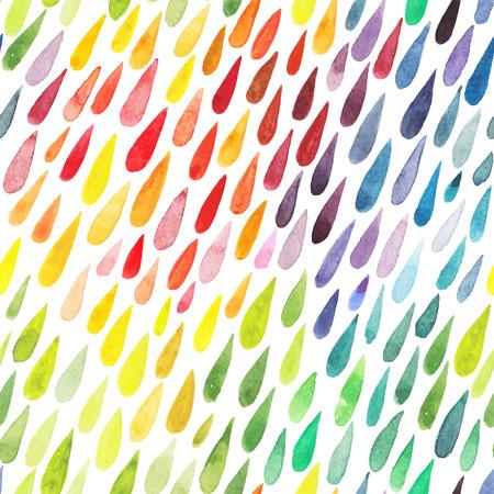 aquarel kleurrijke abstracte achtergrond. Het verzamelen van verf splash aquarel druppels. set van penseelstreken. Geïsoleerd op witte achtergrond Stock Illustratie