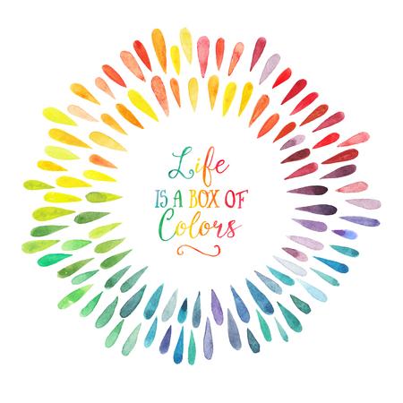 rainbow: vecteur aquarelle couronne avec des gouttes colorées de l'arc
