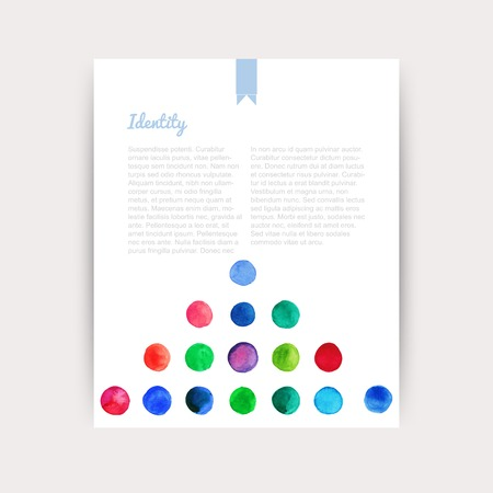 swagger: Vector watercolor circles. Corporate identity vector blank, background, illustration with plenty space for your text. Watercolor backdrop. Identity banner design template, vector illustration. Illustration