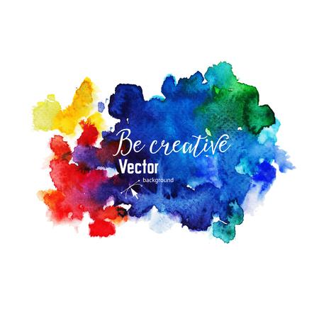 Vector fond d'aquarelle. Colorful texture abstraite lumineuse. Banque d'images - 49062038