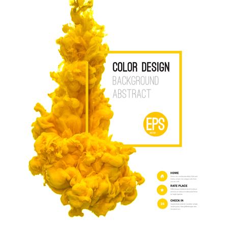 barvitý: Vector abstract cloud. Ink vířící ve vodě, mrak inkoust ve vodě na bílém. Abstraktní banner barvy. Holi.