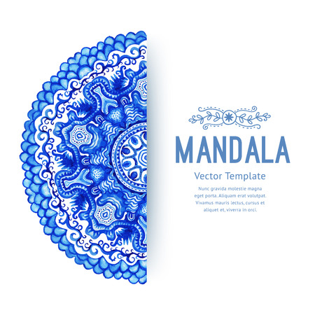 lace like: White and blue ornament.Vector gzhel. Doily lace pattern, circle background with many details, looks like crocheting handmade lace, lacy arabesque designs.Orient traditional ornament. Oriental motif. Illustration