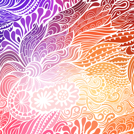 clots: Vector abstract hand-drawn waves texture, wavy background. Colorful waves backdrop.