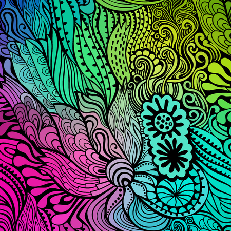 waves abstract: Vector abstract hand-drawn waves texture, wavy background. Colorful waves backdrop.