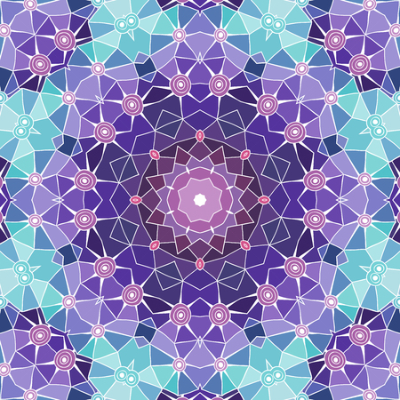 Vector purple mandala. Decor for your design, lace ornament. Round pattern, oriental style.