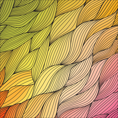 remarkable: Vector abstract hand-drawn waves texture, wavy background. Colorful waves backdrop