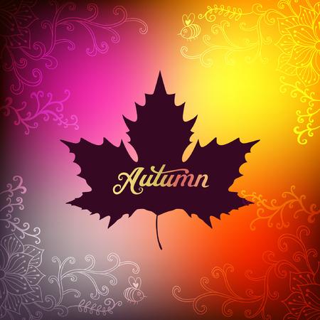 autumnal: Vector autumnal maple leaf background. Illustration
