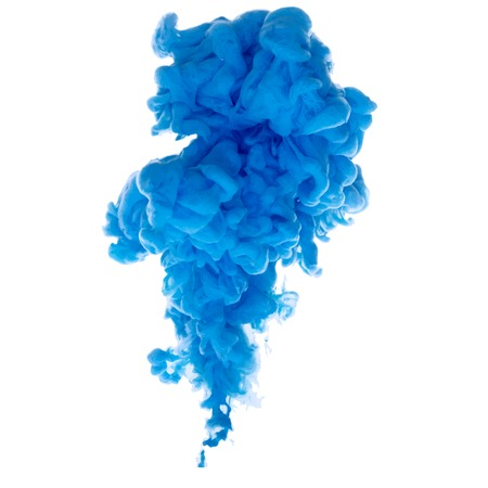 Vector abstracte wolk. Inkt al roerend in water, wolk van inkt in het water geïsoleerd op wit. Banner verven. Holi. Vloeibare inkt. Achtergrond voor banner, kaart, poster, poster, identiteit, web design.Juice. Vector Illustratie