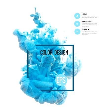 Vector abstract cloud. Tourbillonnant d'encre dans l'eau, nuage d'encre dans l'eau isolé sur blanc. Peintures abstrait bannière. Holi. Encre liquide. Fond de bannière, carte, affiche, poster, identité, web design.Juice.