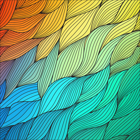 impressive: Vector abstract hand-drawn waves texture, wavy background. Colorful waves backdrop