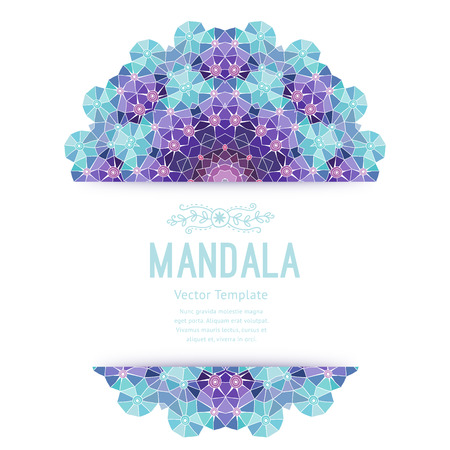 swagger: Vector purple mandala. Decor for your design, lace ornament. Round pattern, oriental style.